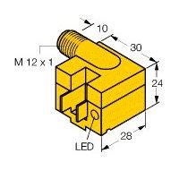 BIM-M12E-AP4X-H11NO Barrel Magnetic Proximity Sensor, M12